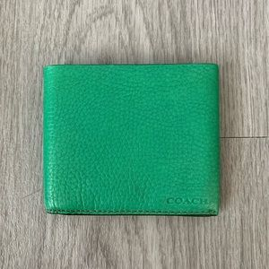 COACH bifold leather wallet